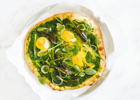 ירוקים וחלמוני ביצה  (צילום: יוסי סליס  סגנון והכנה: נטשה חיימוביץ' )