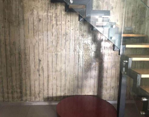 מבואת הכניסה לדירה לפני השיפוץ (צילום: שירה מוסקל)