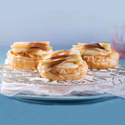 הכי אלגנטי. טארט תפוחים בקרם דבש (צילום: דני לרנר, סגנון: פסי ברניצקי)
