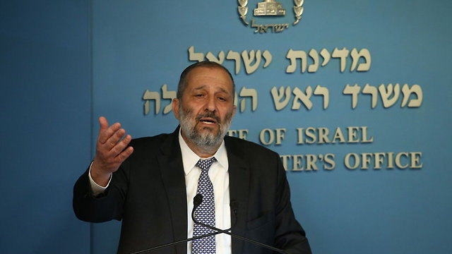 Interior Minister Deri (Photo: Ohad Zwigenberg)