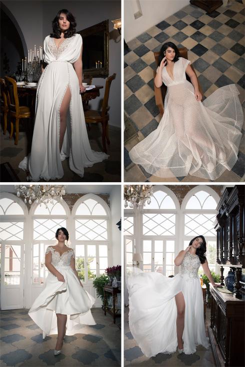 שמלות כלה למידות גדולות של דרור קונטנטו (צילום: דביר כחלון)