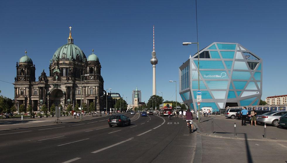 והומבולדט בוקס בברלין כיום. תצפית על הארמון הפרוסי (צילום: Sean Gallup, Gettyimages IL)