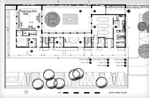 קומת הקרקע (תוכנית: קימל אשכולות אדריכלים)
