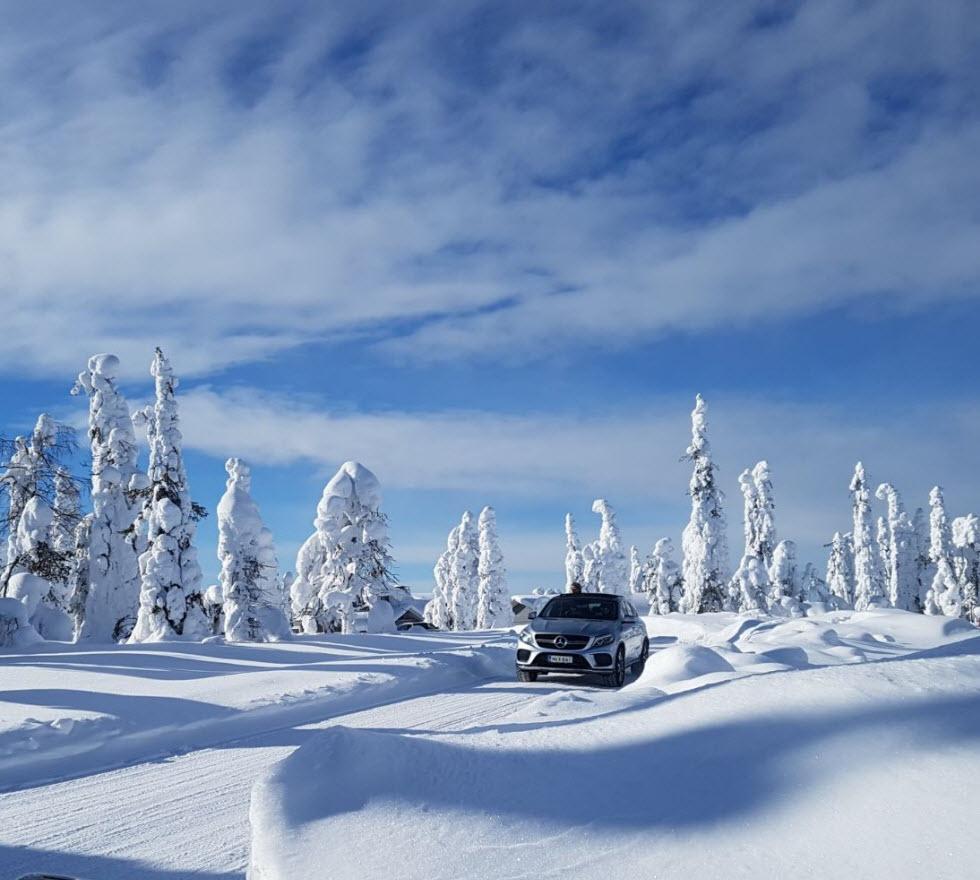 לנהוג על שלג בלפלנד  (צילום: מאגמה)