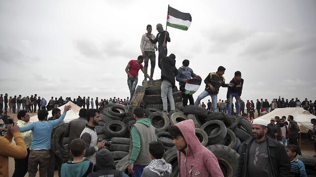 Preparations are underway for another mass protest in Gaza Friday (Photo: AP)