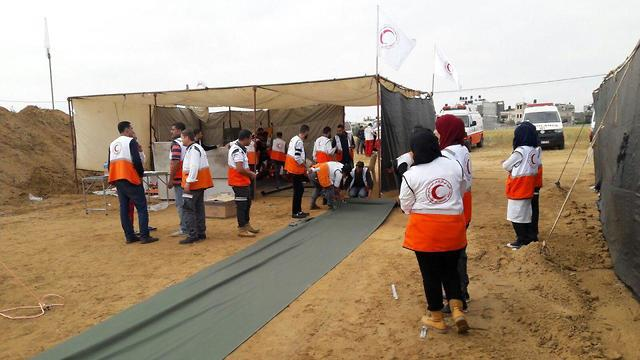 The Red Crescent's field hospital