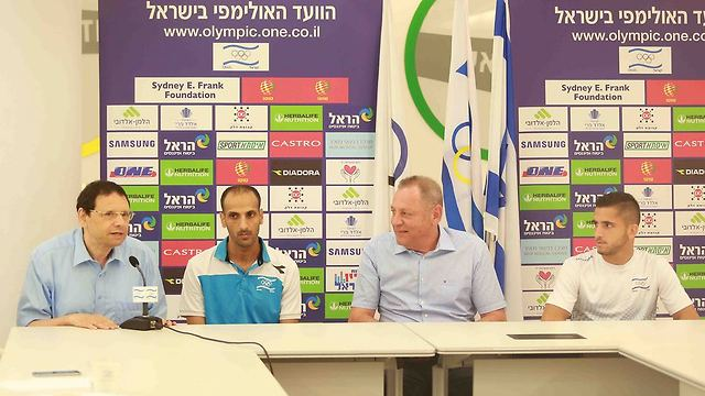 Israel Taekwondo Federation Chairman Madar (L) was ejected from Tunisia when officials discovered his French passport was issued in Jerusalem (Photo: Reuven Schwartz)