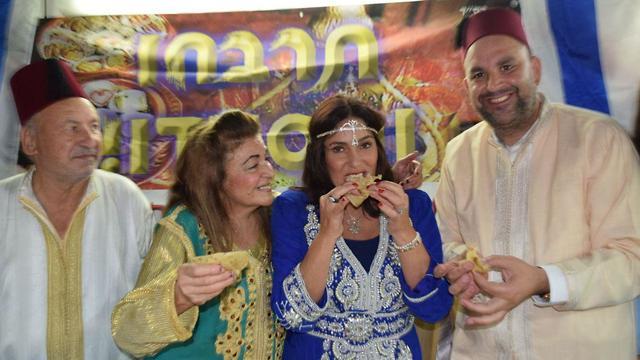 Culture Minister Miri Regev at a Mimouna celebration in Lod (Photo: Eli Sabati)