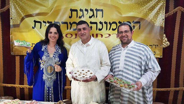 Justice Minister Ayelet Shaked at a Mimouna celebration in Lod