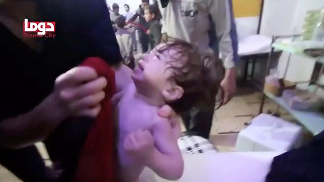 ילד פצוע בסוריה (צילום: רויטרס)