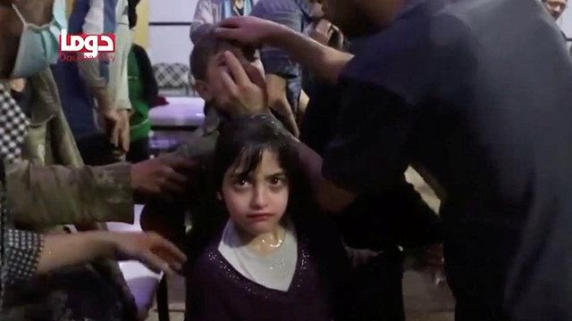 ילדים פצועים בסוריה (צילום: רויטרס)