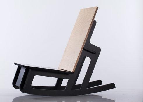 כיסא נדנדה. ללא ברגים או דבק (צילום: אילן בשור)
