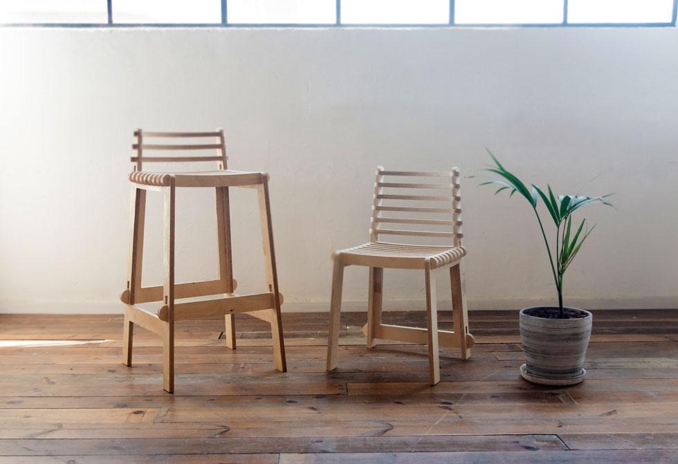 ש7. מתן לאוב: רהיטים שמתחברים בהרכבה יבשה, ללא דבק   (צילום: מרין קויפמן)