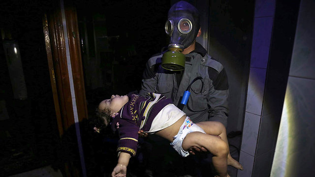 Suspected chemical weapons attack in Douma (Photo: AP)