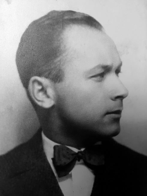 אוסקר ביום חתונתו, 1933, והוא בן 36 (צילום: אלבום משפחתי)