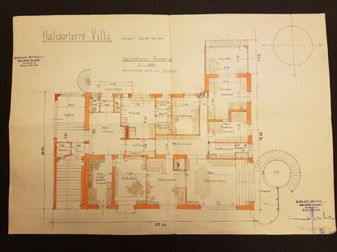 תוכנית הבית שקיווה לבנות למשפחתו הצעירה, שאותה תכנן ושרטט בעצמו (צילום: אלבום משפחתי)
