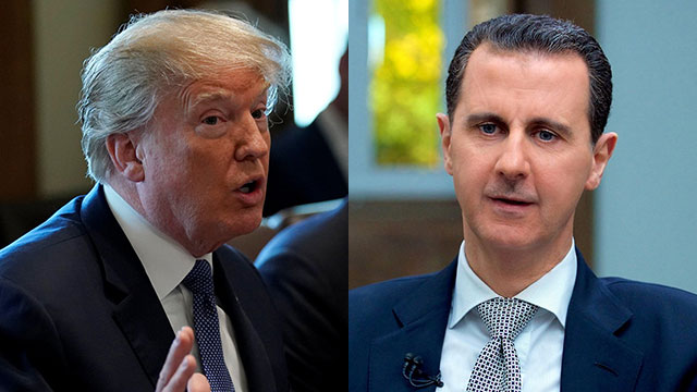 President Trump and President Assad (Photo: Reuters, AP)