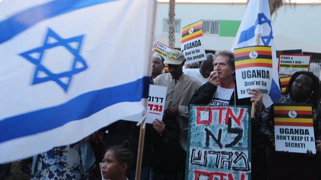 The south Tel Aviv anti-expulsion protest (Photo: Motti Kimchi)