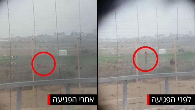 עדשה כוונת משקפת פגיעה פלסטיני ב גבול עזה צלף  צה