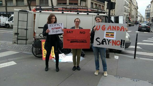 The Paris protest (Photo: Uganda Say No)