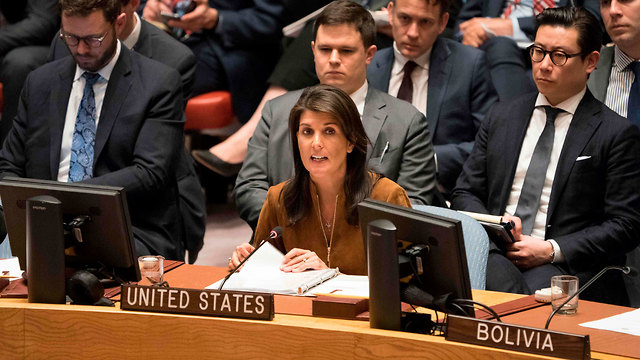 US Ambassador Nikki Haley at the UN Security Council (Photo: AFP)