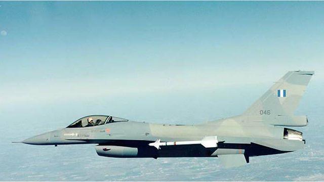 מטוס יוון F16 מטס יום העצמאות (קרדיט: דובר צה