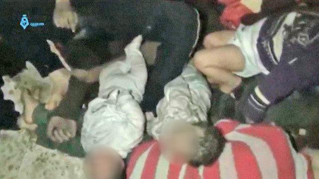 התקפה כימית סוריה דומא (צילום: רויטרס)