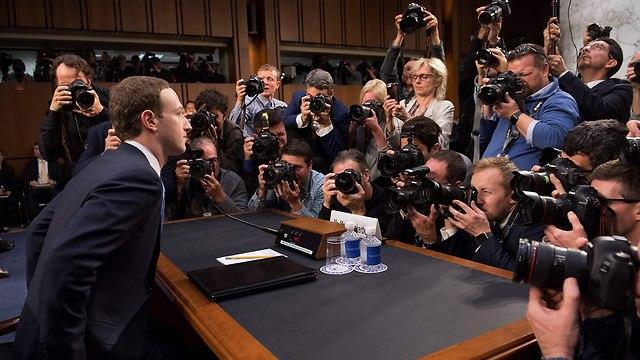 מארק צוקרברג גבעת הקפיטול (צילום: AFP)