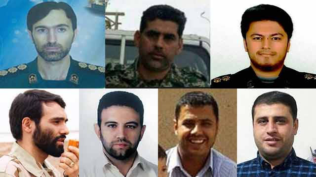 The seven Iranians killed in the strike