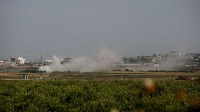 IDF's retaliatory fire  (Photo: Roee Idan)