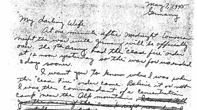 מכתב המקורי  אלווין ויינשטיין ל רעייתו בת זוגו שואה יום השואה מחנה דכאו גרמניה (צילום: ארכיון