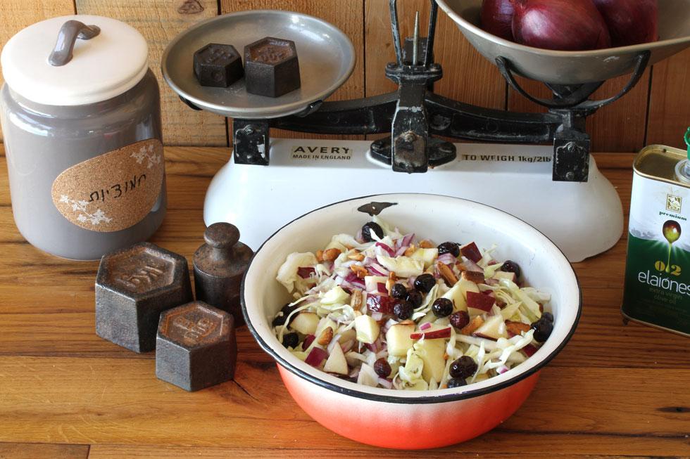 סלט כרוב עם חמוציות ותפוחים (צילום, סגנון והכנה: אסנת לסטר)