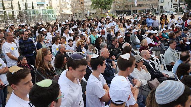 מצעד למען החיים בכיכר הבימה תל אביב (צילום: מוטי קמחי)
