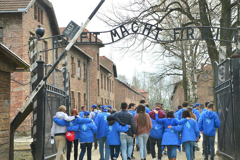 מצעד החיים במחנה אושוויץ (צילום: יוסי זליגר)
