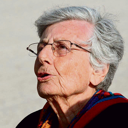 Late Holocaust survivor Ruth Bondy. With all the research and reading, I am still unable to grasp how the extermination of Jews could have even happened (Photo: Moshe Shai)