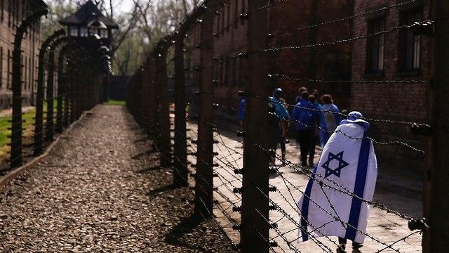 מצעד החיים 2018 ב פולין אושוויץ בירקנאו צעדה יום השואה שואה (צילום: רויטרס)