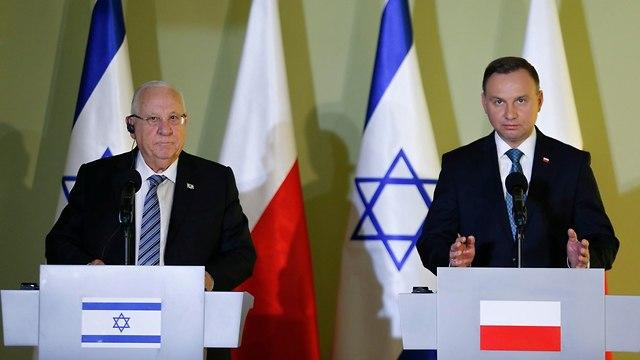 Президенты Израиля и Польши. Фото: ЕРА