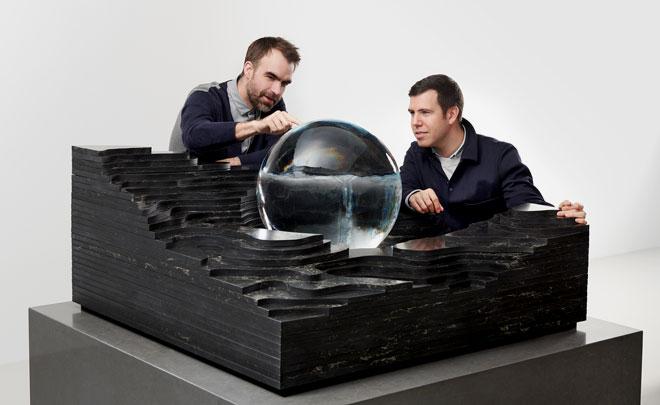 המיצב של ''אבן קיסר'' עם הסטודיו הניו יורקי Snarkitectur יוצב ב-Palazzo dell'Ufficio Elettorale di Porta Romana, שייפתח לראשונה לקהל הרחב (צילום: Alex Lukey)