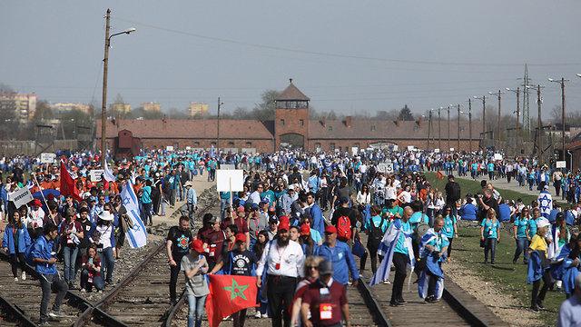 מצעד החיים פולין (צילום: EPA)