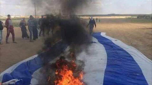 שריפת דגל ישראל ()