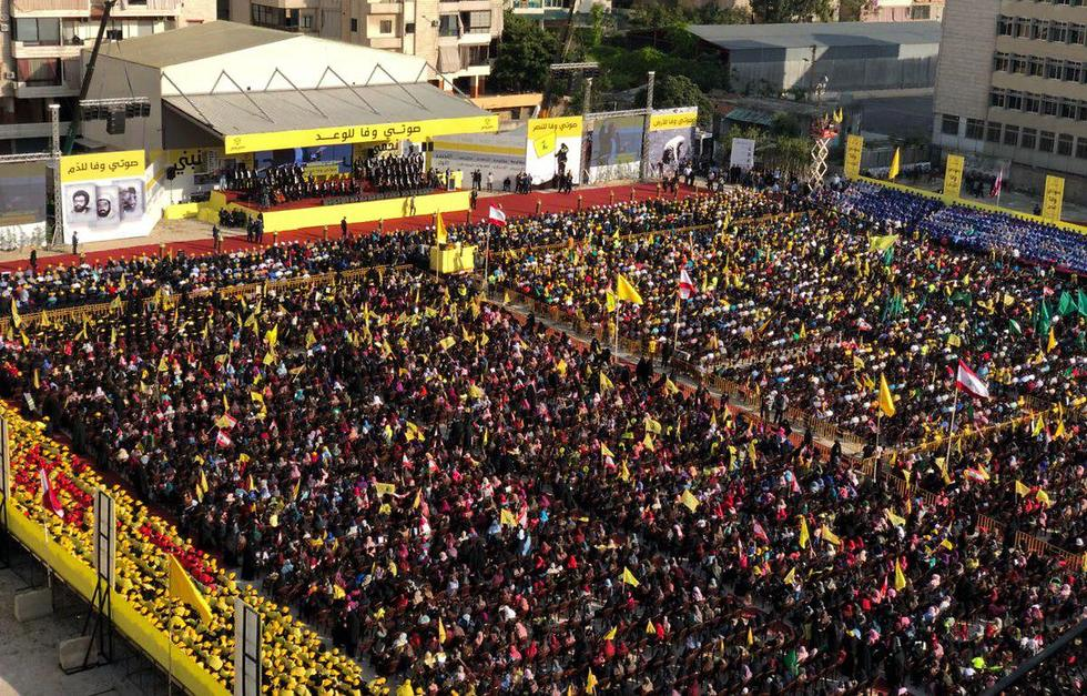 The audience at Nasrallah's speech