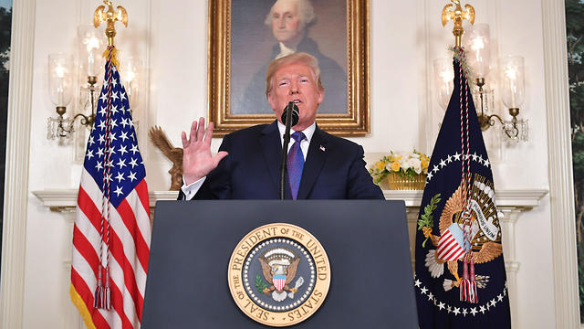 Trump addressing nation after Syria strike (Photo: AFP)
