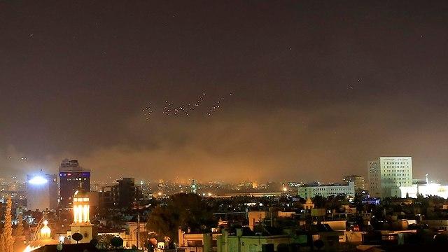 תקיפה בסוריה (צילום: AP)