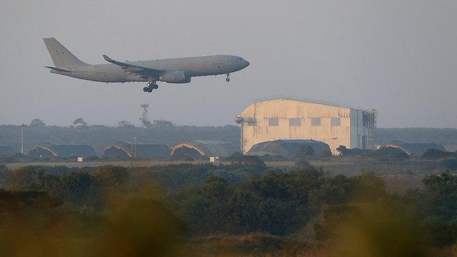 בסיס חיל אוויר בריטי בקפריסין (צילום: AP)