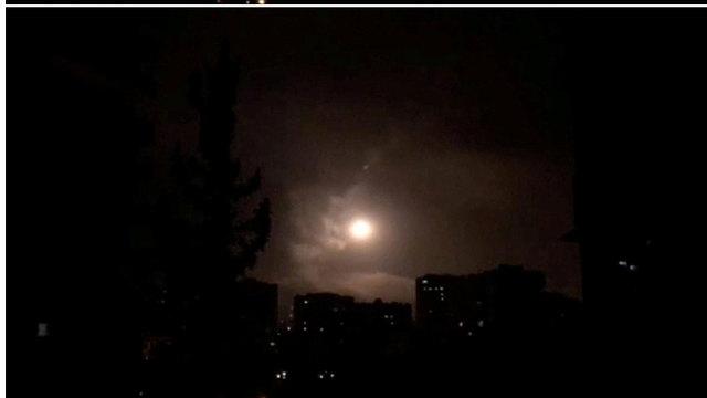 תקיפה בסוריה (צילום: רויטרס)