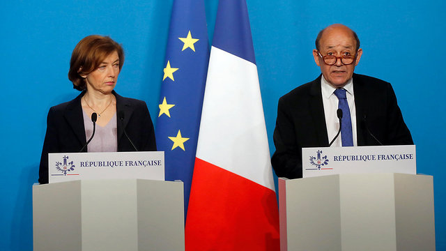 France's Defense Minister Florence Parly and Foreign Minister Jean-Yves Le Drian (Photo: AP)
