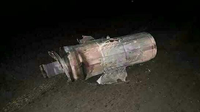 אחד הטילים שהופלו לפי הסורים ()