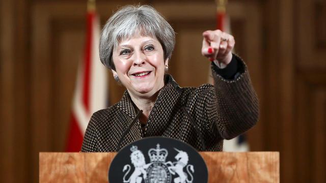 ראש ממשלת בריטניה תרזה מיי נאום אחרי ה תקיפה ב סוריה (צילום: MCT)