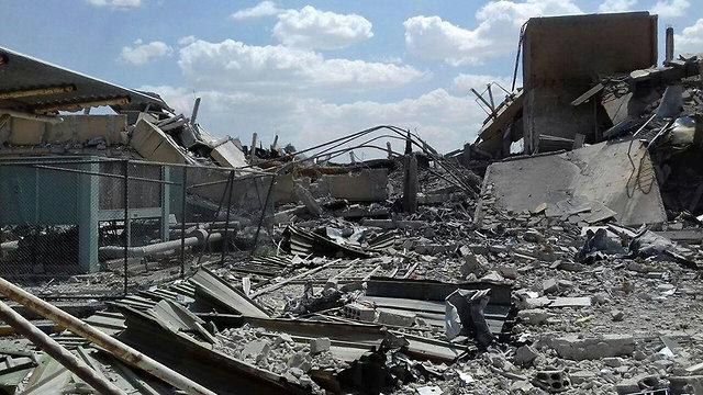 הריסות בסוריה לאחר הפצצה (צילום: AP)