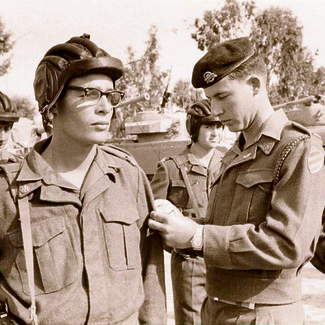 גד רפן בסיום קורס מפקדי טנקים